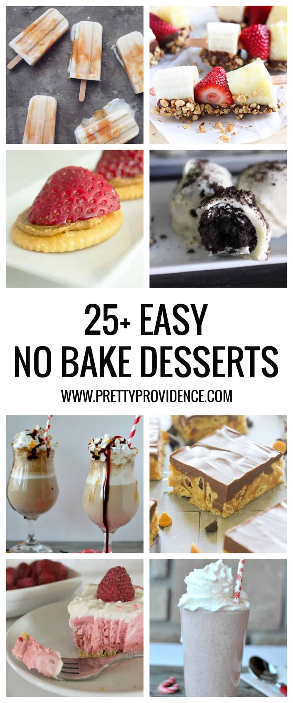Okay these 25+ easy no bake dessert recipes are ALL winners! Quick, easy, no hot ovens required (!!!) and freakin' delicious!