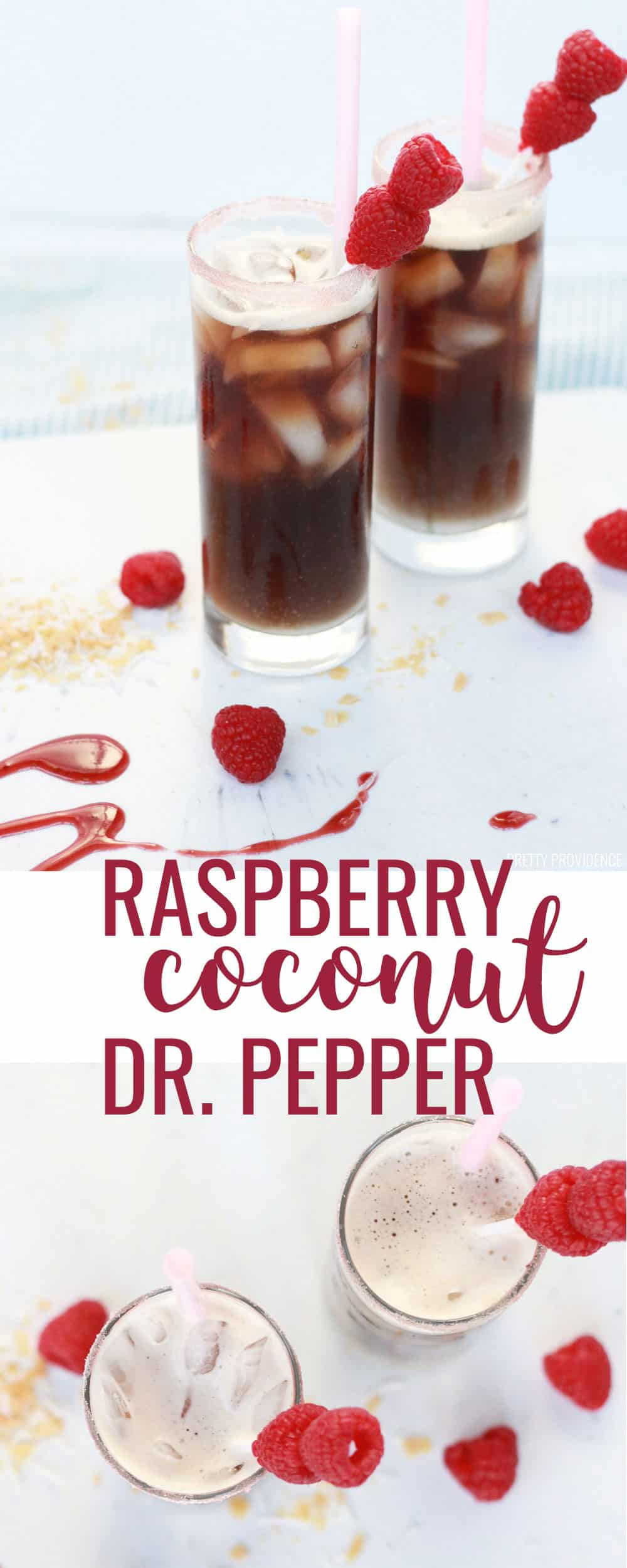 This non-alcoholic drink recipe made with Dr. Pepper, raspberry puree and coconut cream is TO DIE FOR! A Swig copycat recipe for their Raspberry Dream that you can make at home again and again!