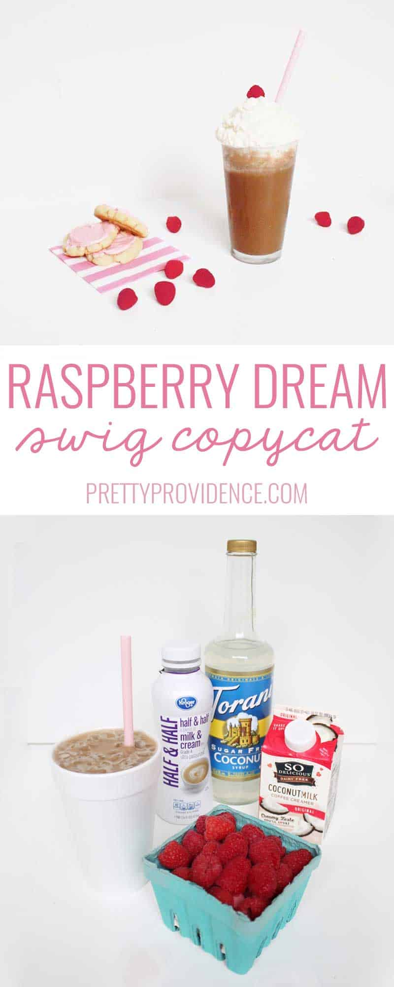 You HAVE to try this great Swig copycat! Dr. Pepper + Raspberry Puree + Coconut Cream and it's HEAVEN.