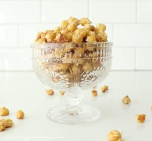 If you need a healthy and delicious snack, these roasted chickpeas are for you! So yummy, even my picky eaters love them!
