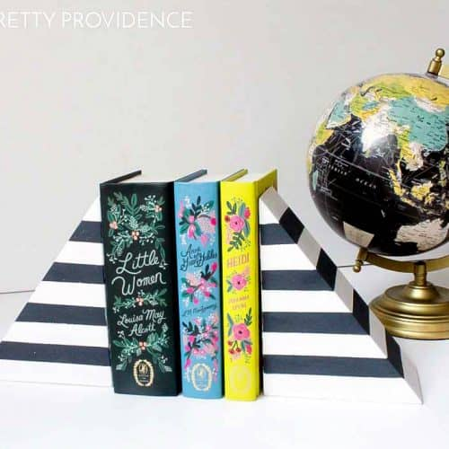 DIY Striped Bookends