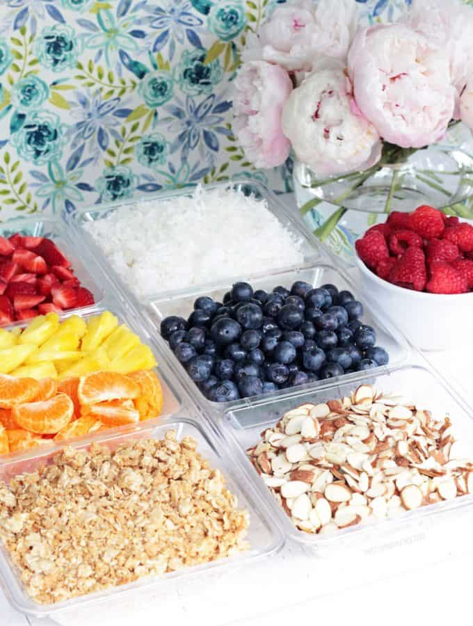 Yogurt Toppings Bar