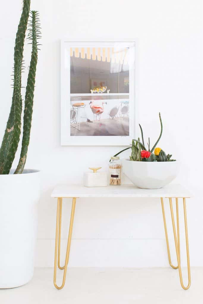 DIY Marble Accent Table from Sugar & Cloth