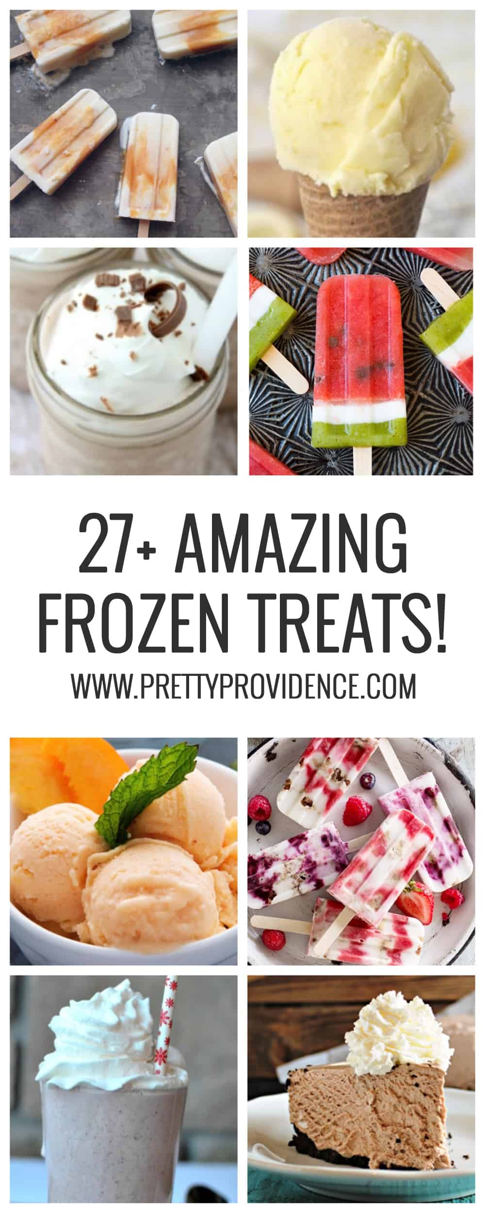 27+ AMAZING FROZEN TREATS to help you beat the heat this summer! They are all super easy, too!