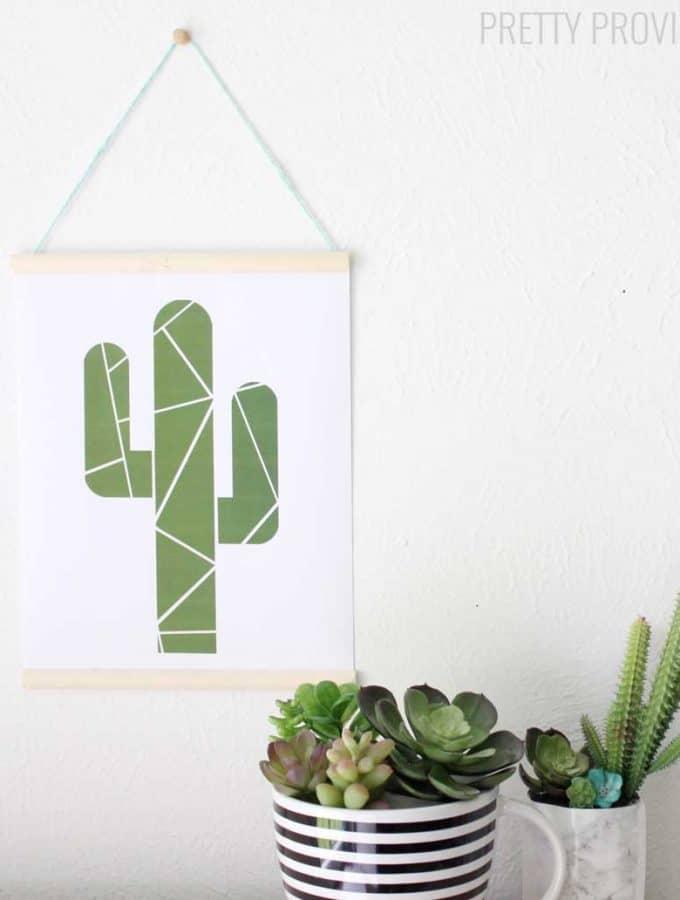 Geometric Cactus Printable