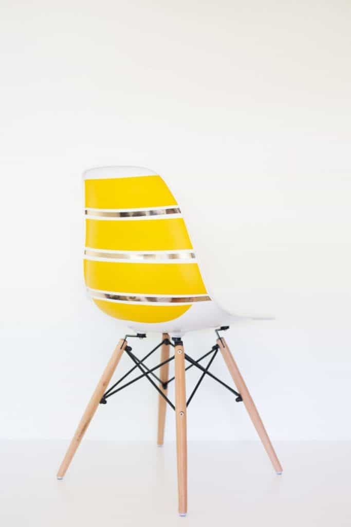 diy-striped-midcentury-shell-chair1-800x1200
