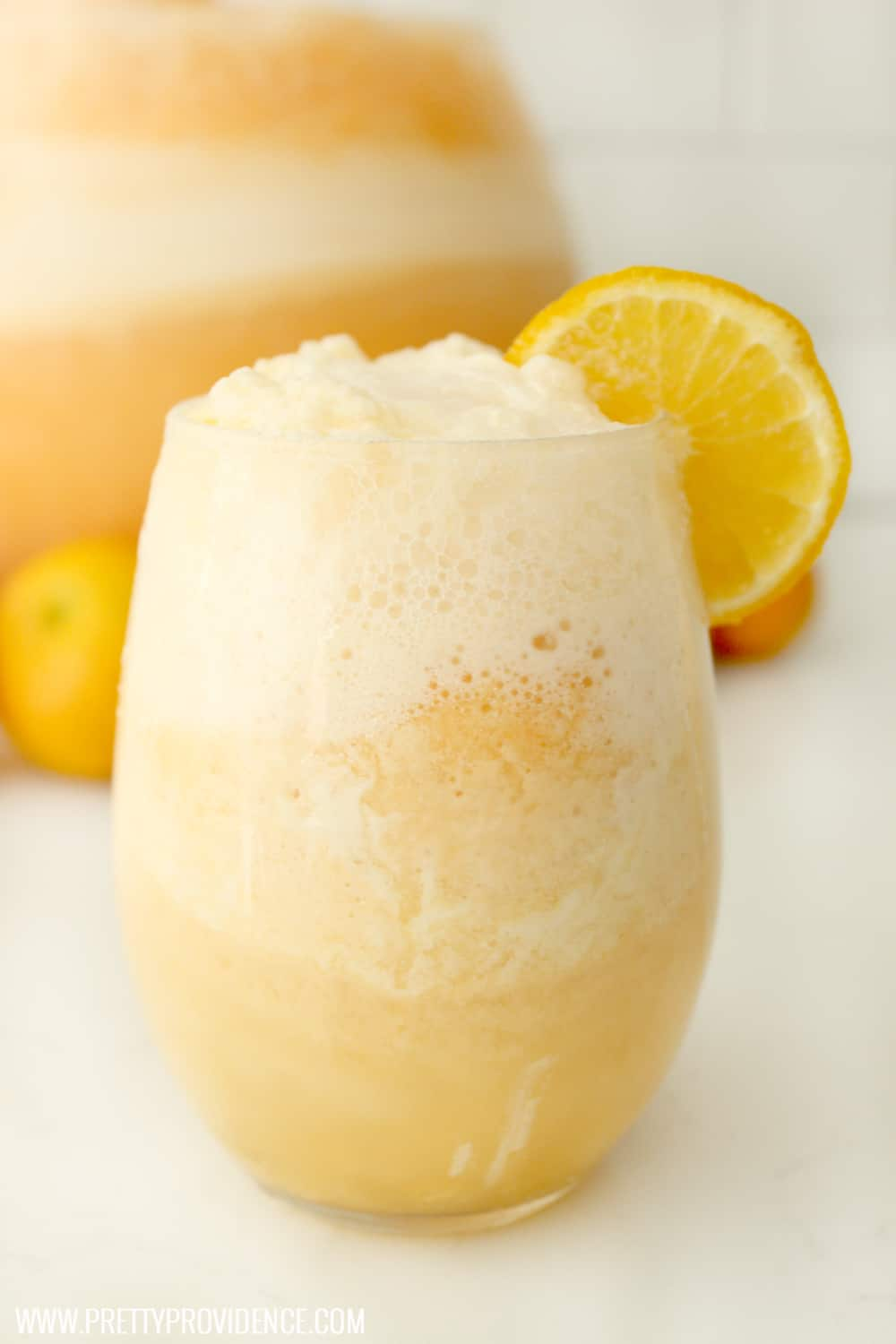 The perfect easy party drink! Everyone loves this orange frappe' and will beg you for the recipe! It is fun, easy, and so delicious!