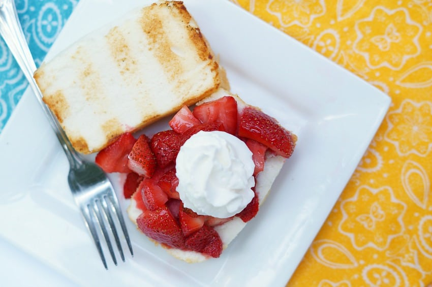 Grilled Strawberry Shortcakes