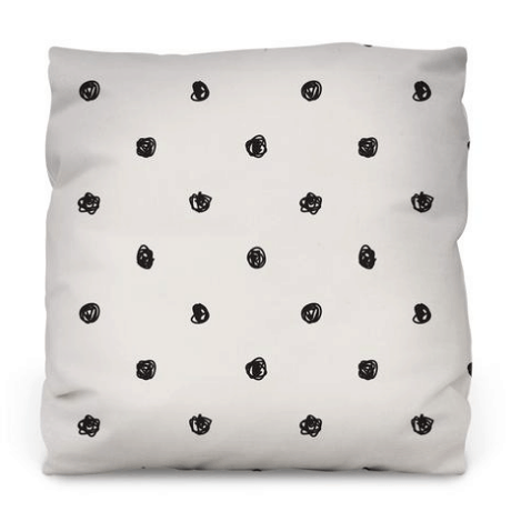 Scribble Dots Throw Pillow