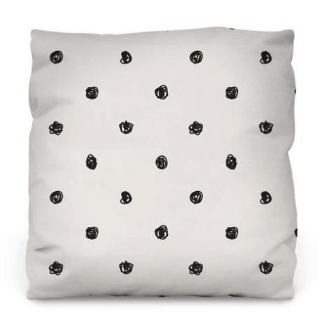 Scribble Dots Throw Pillow