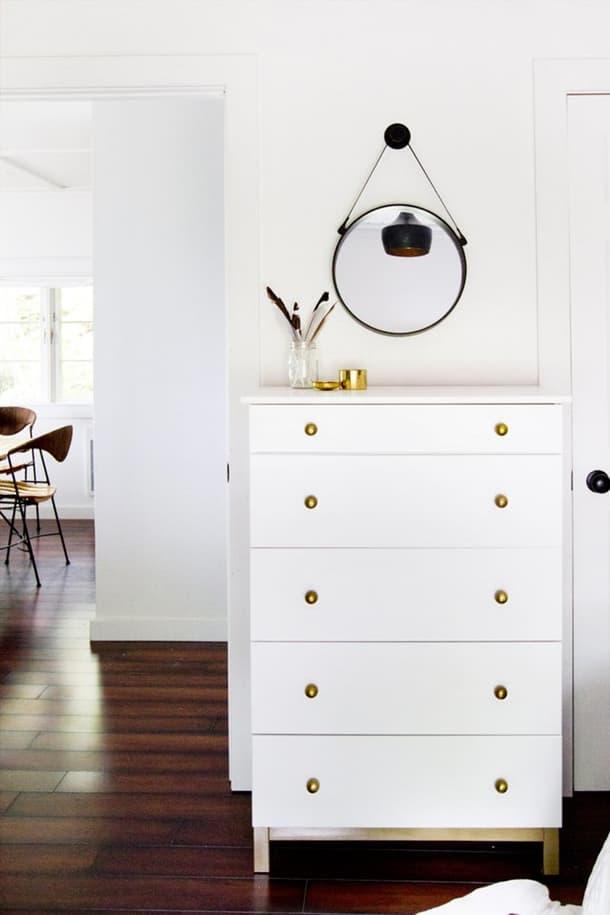 Glammed up IKEA dresser at Smitten Studio