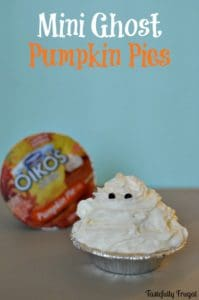 Mini Ghost Pumpkin Pies | Tastefully Frugal