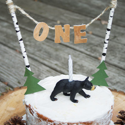 DIY Wooden Letter Cake Topper