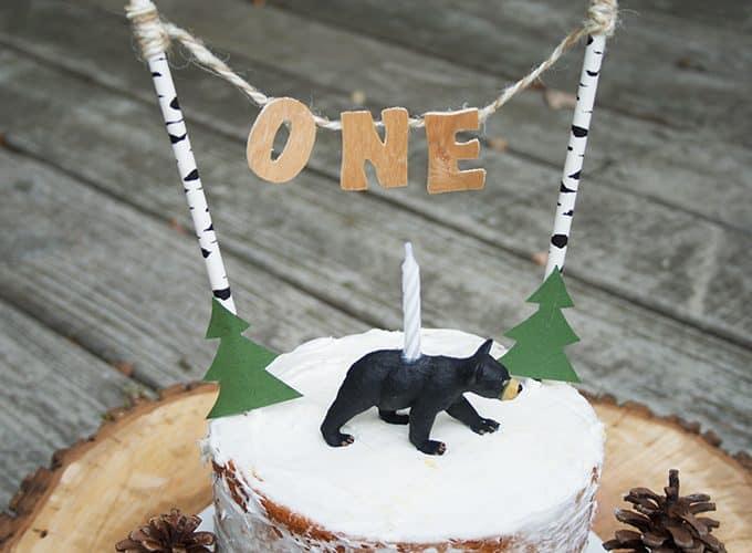 DIY Wooden Letter Cake Topper