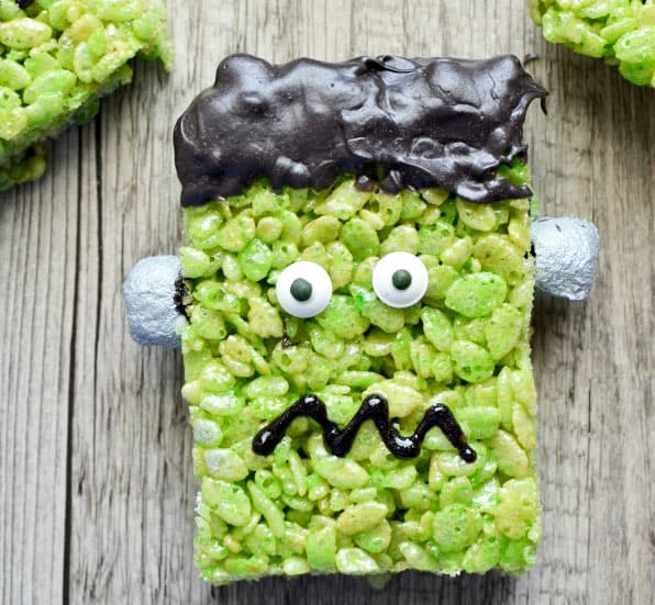 Frankenstein Rice Krispie Treats Easy Recipe