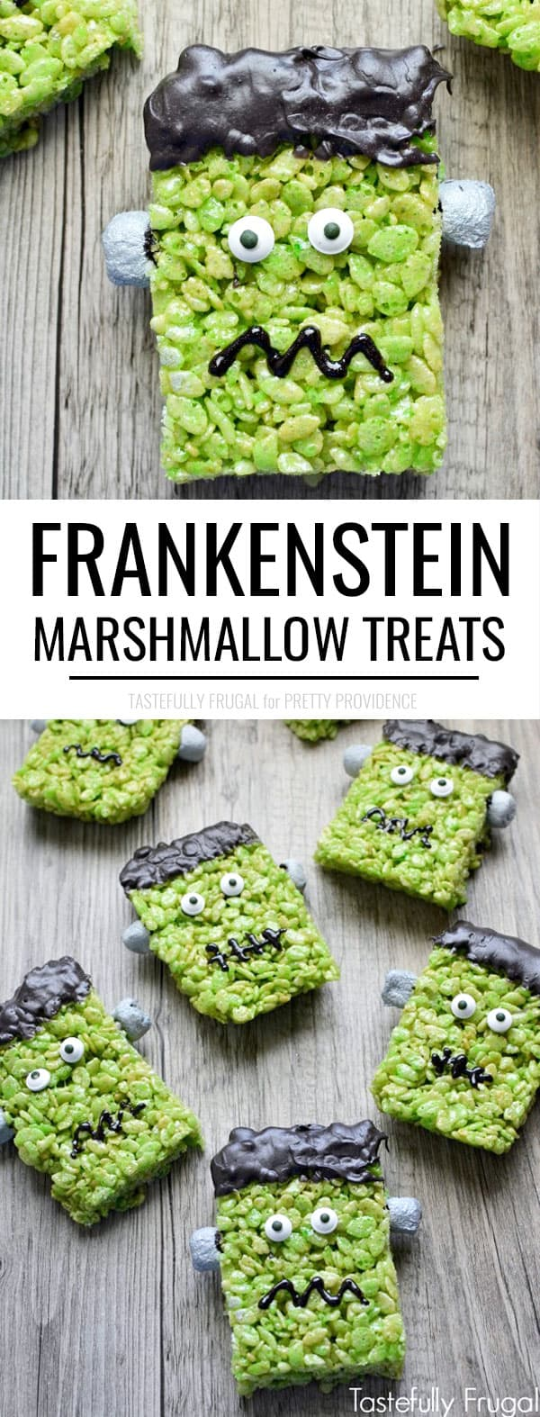 Frankenstein Treats Rice Krispies for Halloween