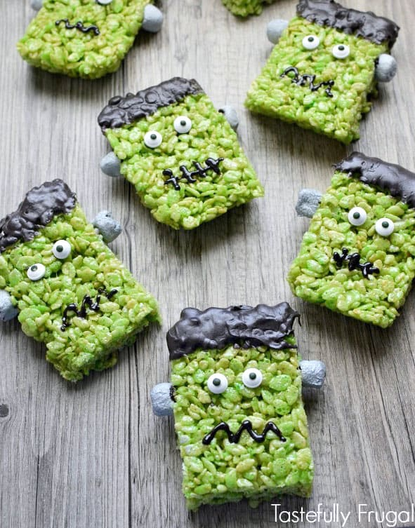 Frankenstein Treats Rice Krispie Treats for Halloween
