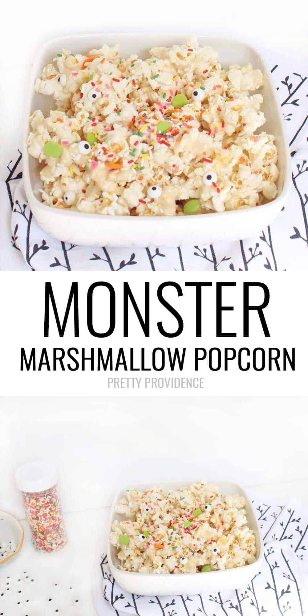 Monster Marshmallow Popcorn! Our favorite easy halloween treat!!