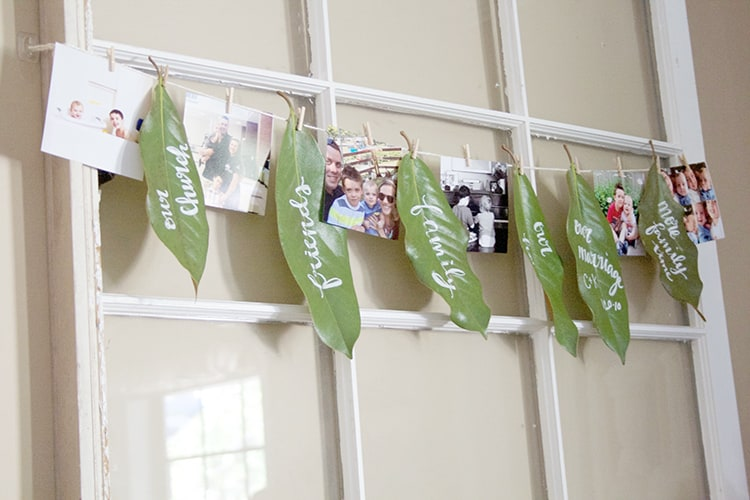 I LOVE this grateful garland! Perfect for the month of November (or really any time...)