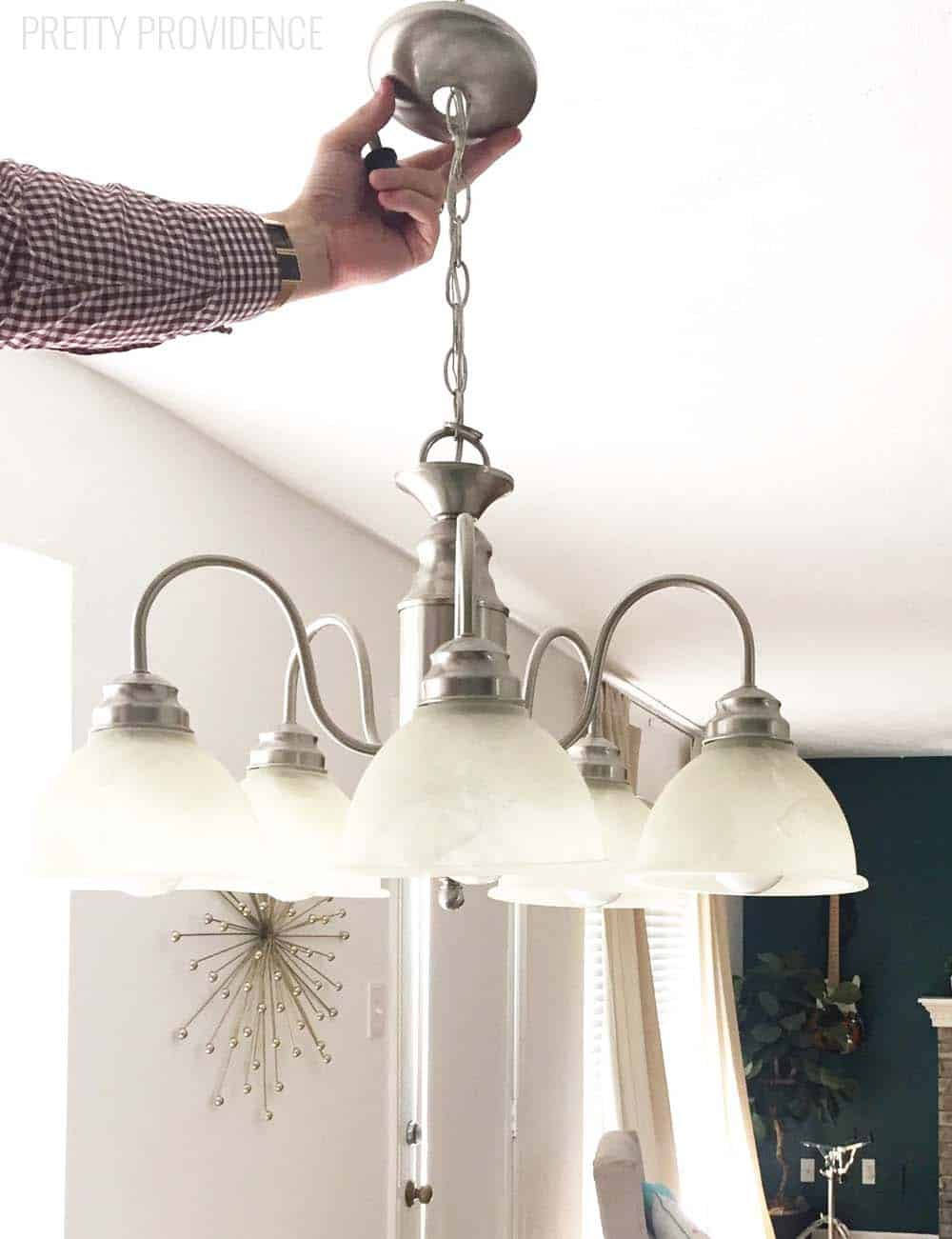 Drum shade pendant light - so EASY and inexpensive!