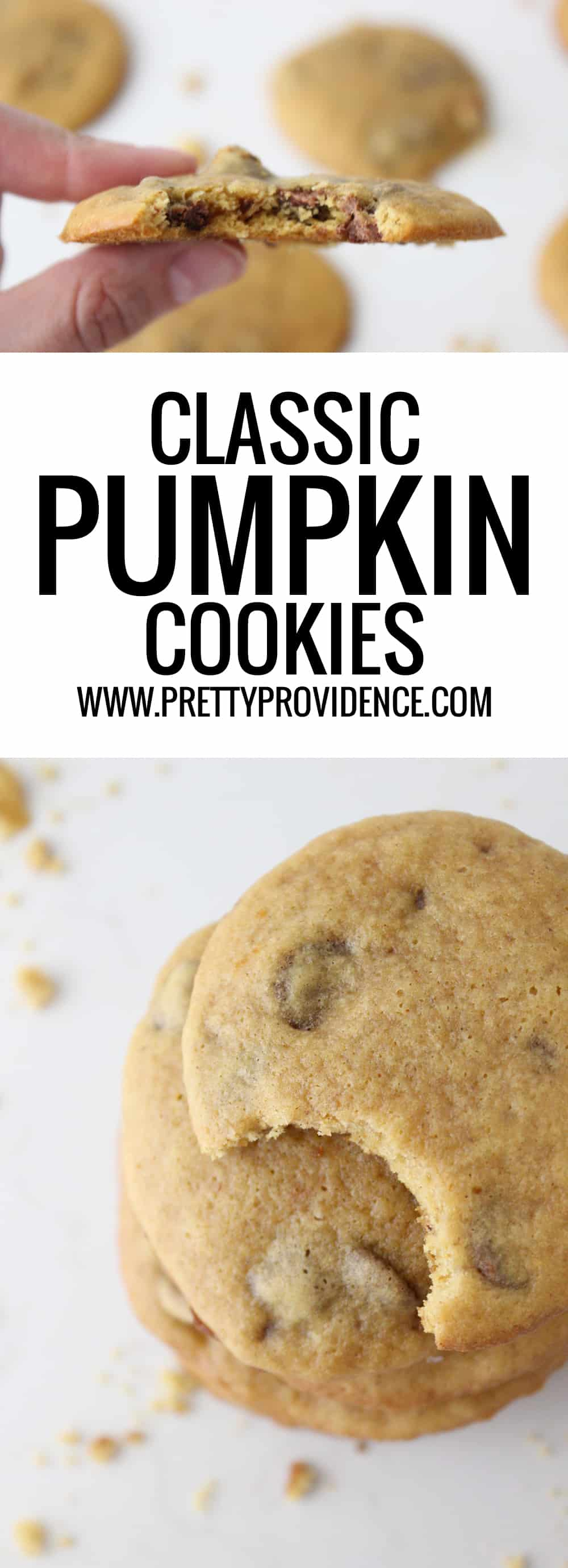 Super yummy classic pumpkin chocolate chip cookies! Super easy to whip together and feeds a crowd, the perfect recipe for fall!