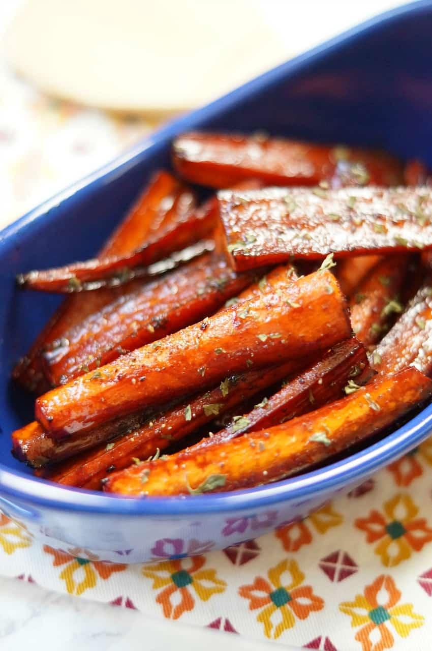 Roasted Balsamic Glazed Carrots