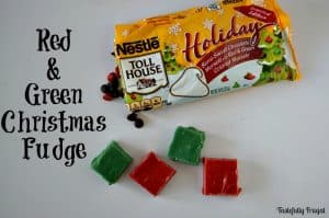 Red & Green Christmas Fudge