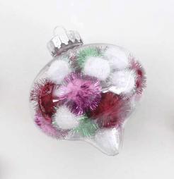 DIY Pom Pom Filled Ornaments