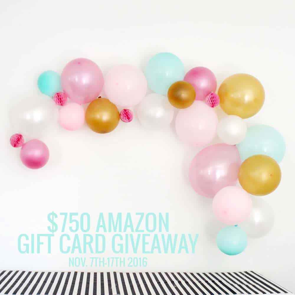 Enter to win $750 amazon gift card just in time for the holidays!
