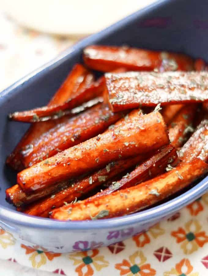 Roasted Balsamic and Brown Sugar Carrots