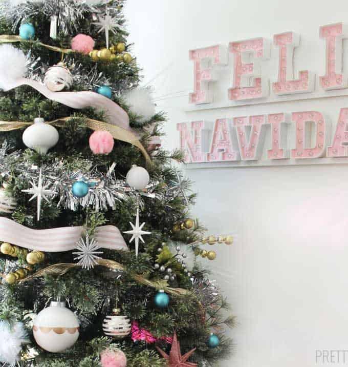 Mid Century Modern Inspired Christmas Tree