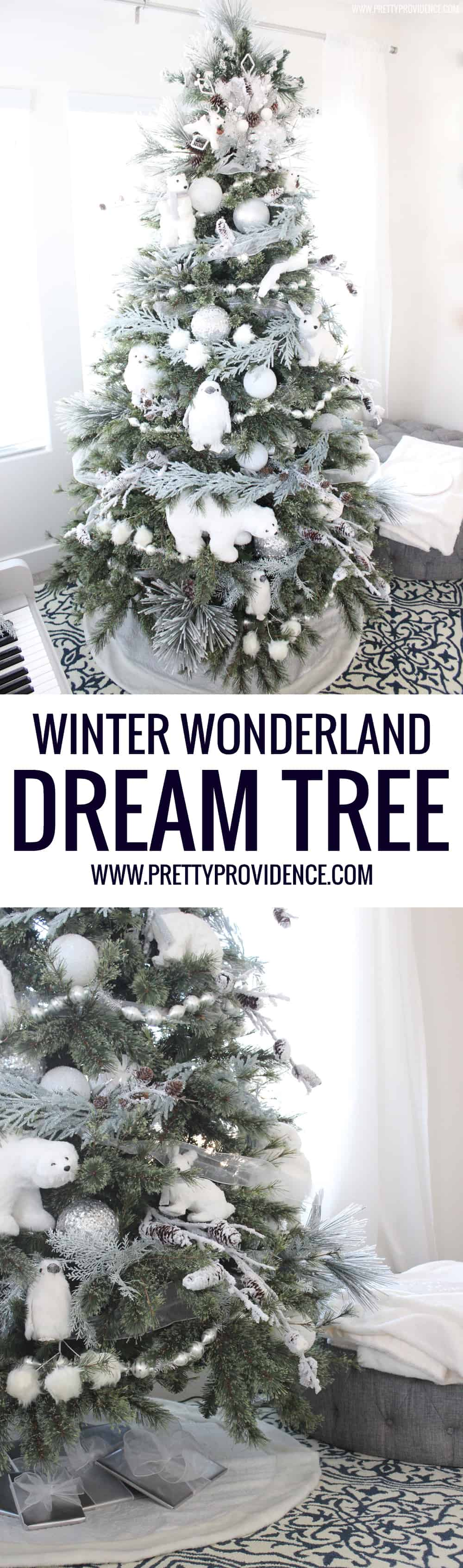 Totally in love with this winter wonderland dream tree! So fun for the kids, and still beautiful for me!