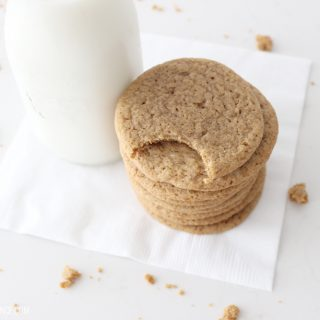 These soft and chewy ginger snap cookies are AMAZING!!! Seriously, I've never even liked ginger before and I could eat this whole batch! Plus, they make your whole house smell amazing!