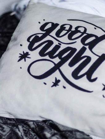 DIY Hand Lettered Throw Pillow