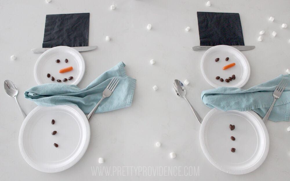 snowman-place-setting