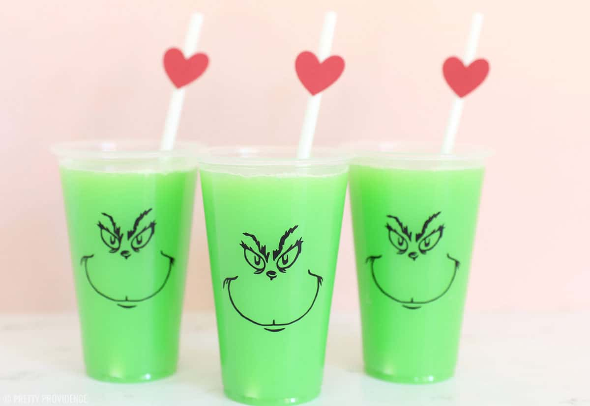 Grinch Party Punch: This 2 ingredient drink is perfect for your holiday party and one that both kids and adults will love!