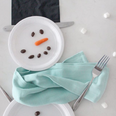 Easy Snowman Place Setting