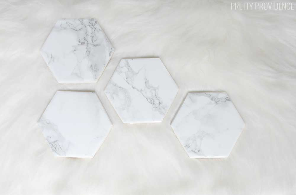 Diy Marble Coasters Gift Pretty Providence