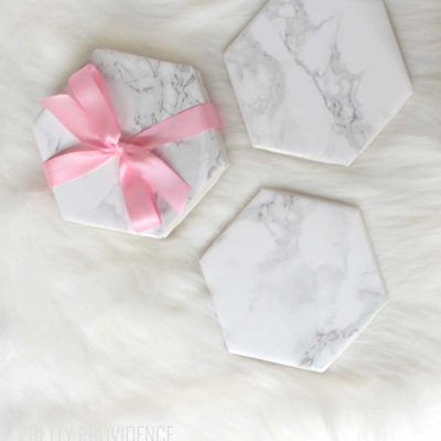 DIY Marble Coasters Gift