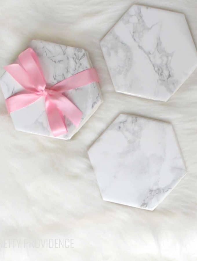 DIY Marble Coasters Gift