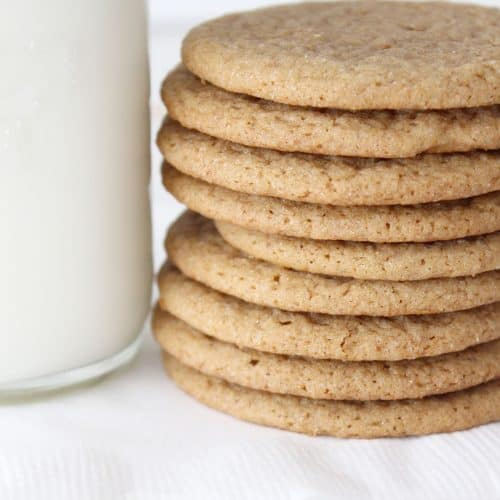Soft and Chewy Ginger Snaps