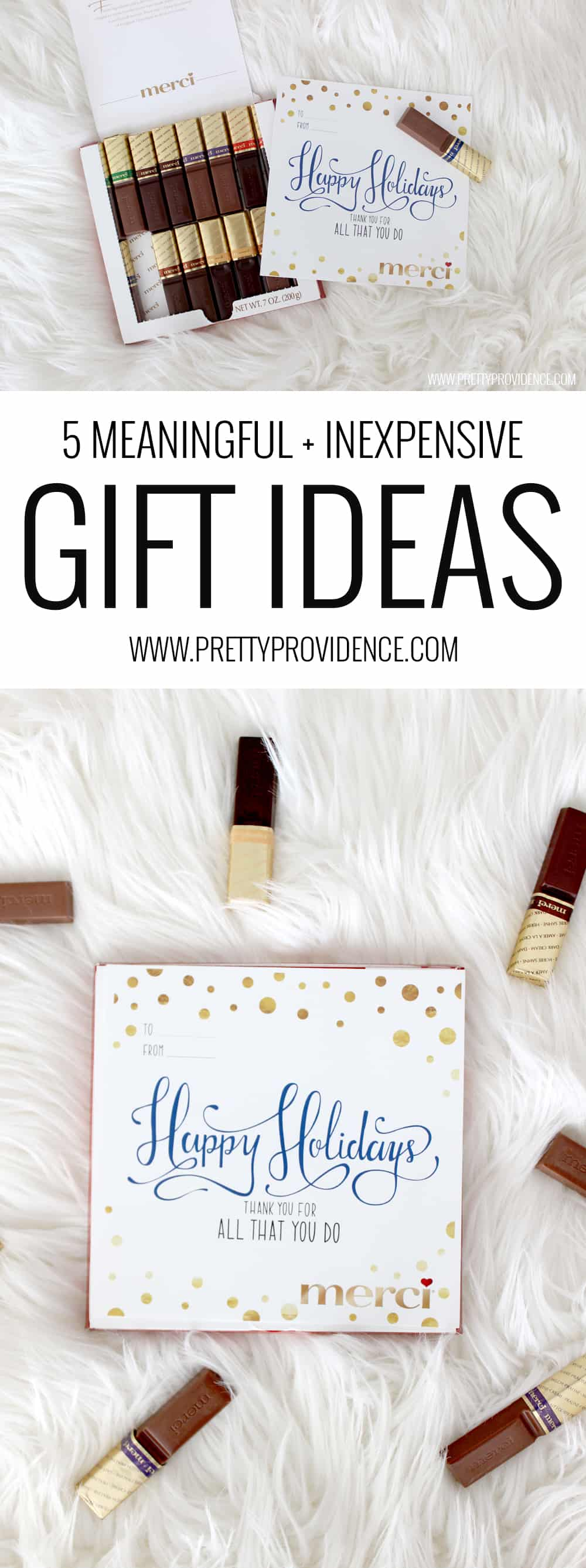 Five meaningful and inexpensive gift ideas! There are some really great ideas in here- I would love if someone did any one of these for me!