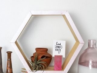 DIY Hexagon Shelf