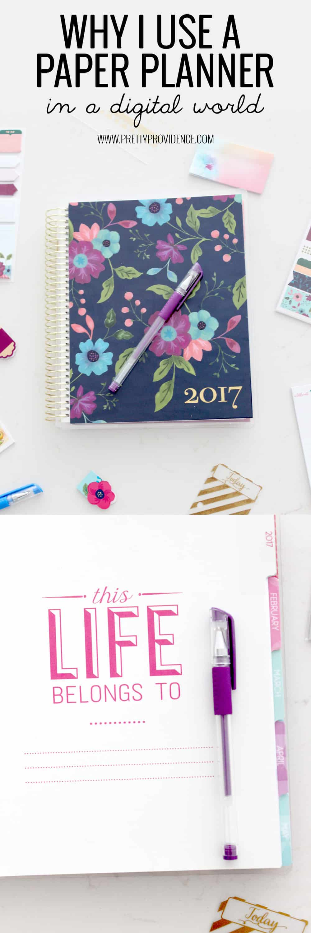 Why I use a paper planner in a digital age! I cannot live without my paper planner! Click through to find out why!