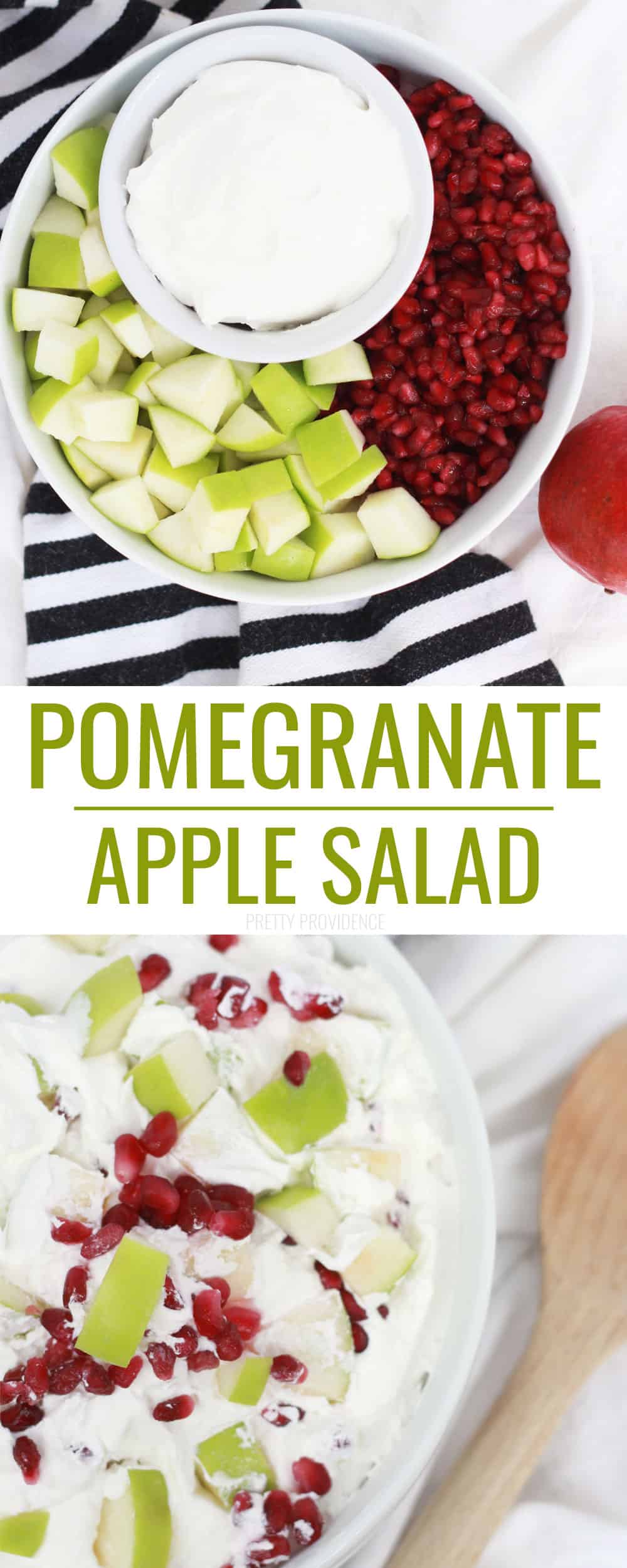 The perfect Fruit Salad for Thanksgiving or Christmas - Pomegranate Apple Salad