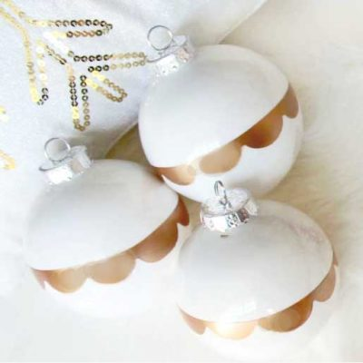 DIY Gold Scalloped Ornaments