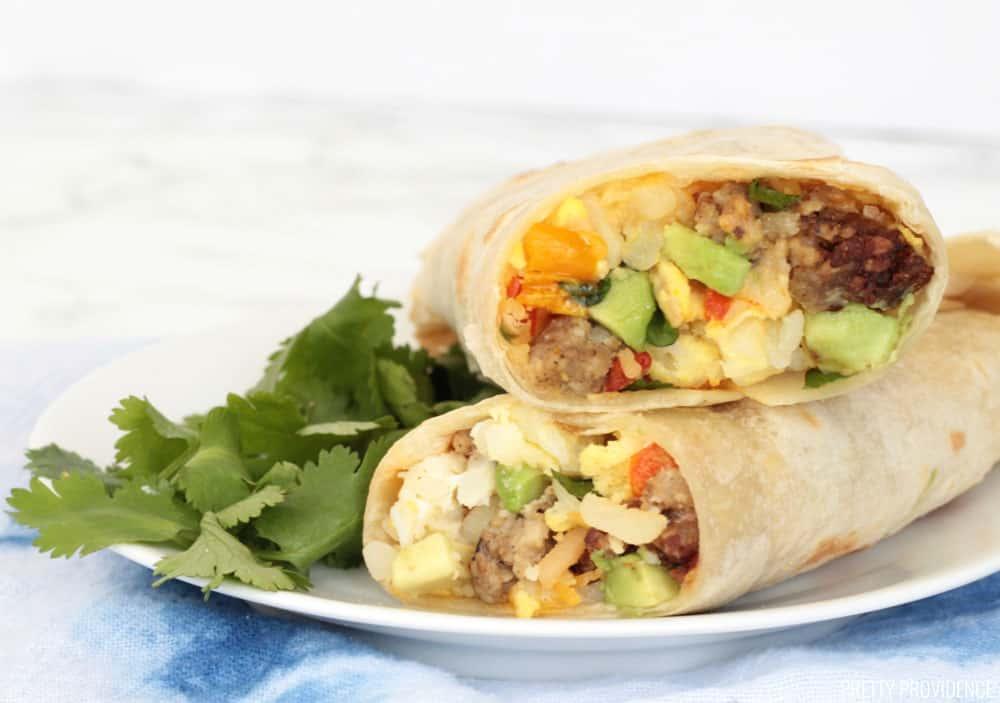 Slow Cooker Breakfast Burritos