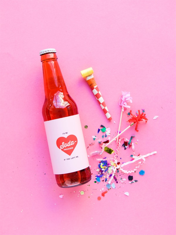 Soda Valentine Printable from Oh Happy Day!