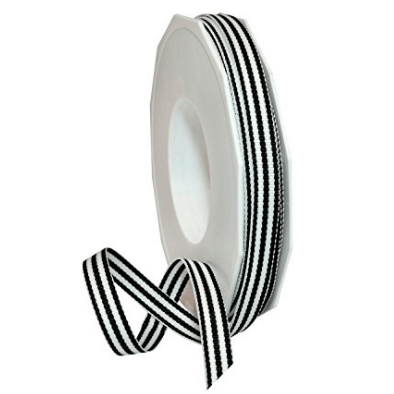 Black and White Striped Ribbon!