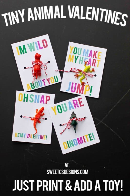 Tiny Animal Valentines from Sweet C's Designs